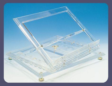 Leggio da tavolo in plexiglass plexdesign prodotti - Leggio per libri da tavolo ...