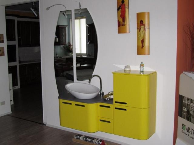 Bagno giallo lucido mobili classici e moderni mobilificio